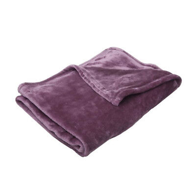 BABYCALIN Couverture flanelle 100% polyester - Violine - 100 x 150 cm