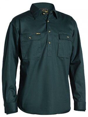 NEW Bisley Shirts  Front Cotton Drill Shirt Bottle - XL - Safety Clothing -