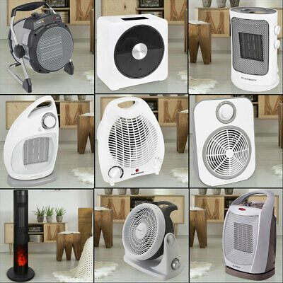 Fan Heater 2 stages fan ceramic quick heater heating thermostat adjustable new