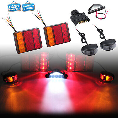Led Trailer Lights Kit - Plug, Number Plate Light, 10M 5 Core Wire, Side Markers
