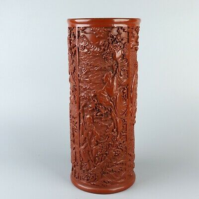 Chinese Exquisite Handmade Eight Immortals lacquerware Pen holder Brush Pots