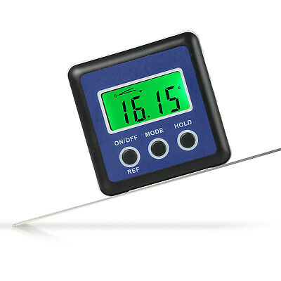 360° Mini LCD Digital Gauge Magnetic Base Angle Protractor Level Inclinometer