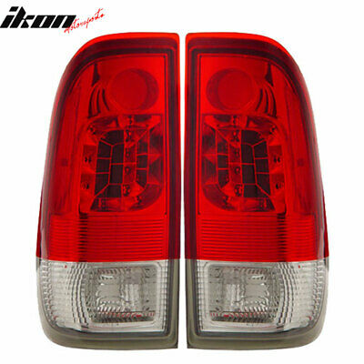 Fits 97-03 Ford F150 LED Tail Lights Lamps Red Clear Styleside LH RH 2PC