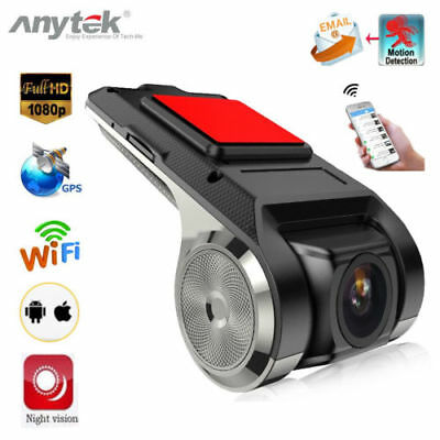 Anytek X28 1080P Auto DVR Kamera Video Recorder WiFi ADAS G-sensor Dash Cam FHD