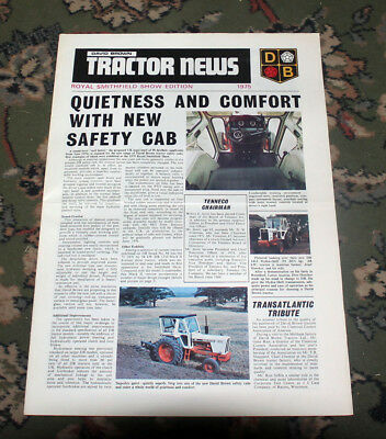 """David Brown / CASE tractor newspaper Royal Smithfield 1975 (""""tractor news"""")"""