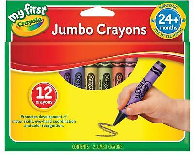Crayola My First Jumbo Size Crayons 12 Pack Large Size Crayons Kids Colouring