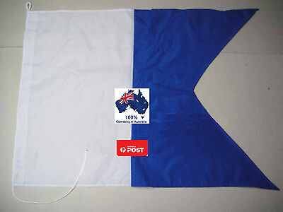 600mm x 700mm Large Scuba Diving Dive Boat Charter Alpha Flag Spearfishing AUS