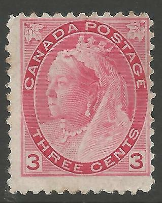 CANADA SG156 1898 3c ROSE-CARMINE UNUSED