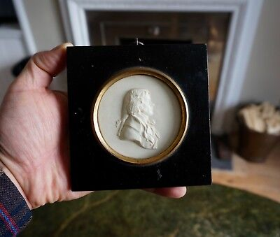 A Superb Late 18Th - Early19Th Century Framed Georgian Portrait Medallion