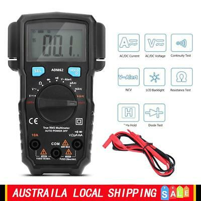 Auto Range Digital LCD Multimeter Voltmeter Tester Ammeter DC AC OHM RMS W/Probe