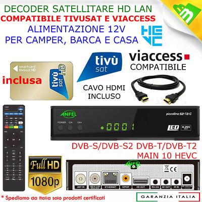 Decoder Satellitare Hd S2 Bware Combo, Legge Schede Tivusat E Tv Rsisvizz