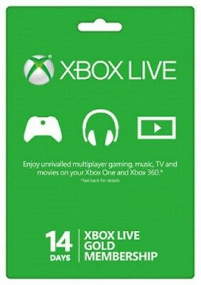 Xbox Live Gold 14 Giorni Abbonamento trial Codice Xbox One/360  IT - EU KEY
