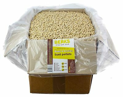 Bugs & berries suet feed pellets for wild garden bird all year feeding 12.75kg