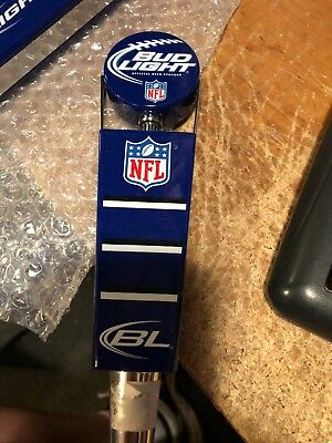 "Bud Light--Nfl Yard Marker----7 1/4""--Beer Tap Handle-----Used"