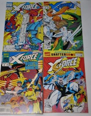 X-FORCE lot - 4 comics - 4, 6, Annual 1, Annual 3 (1st Series - 1991 Marvel)