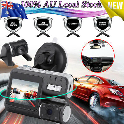 Dual Car Camera True HD 1080P G-sensor Recorder Crash Cam Dash DVR Video