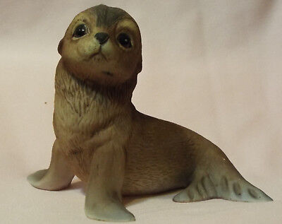 Roger J Brown Signed by Artist Seal Pup Akiku 1978  Porcelain Bisque  50005