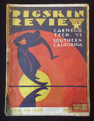 USC Football Program Dec 14 1929 Carnegie Tech – Southern California