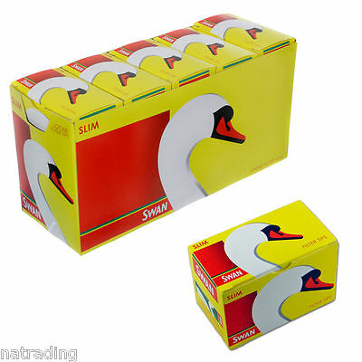 Swan Slim line Filter Tips Loose Smoking Cigarettes Slimline FULL BOX Pack of 10