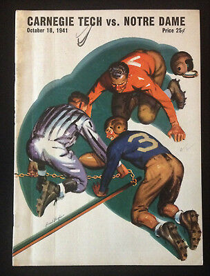 Carnegie Tech vs Notre Dame Football Program Oct 18 1941