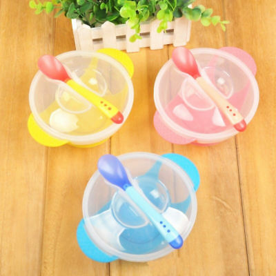 Baby Kids Children Suction Cup Bowl Slip-resistant Tableware Set Sucker Bowl