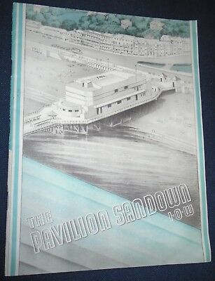 VINTAGE SANDOWN PAVILION PROGRAMME IOW 1930s/1940s WITH RED FUNNEL STEAMER FLYER