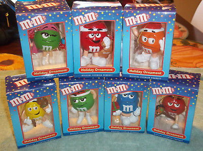 M&M brand Candy holiday ornaments lot of 7