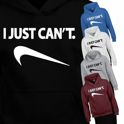 I Just Cant Kids Hoodie Top Inspired Dress Funny Joke Gift Boys Girls Lazy Dress
