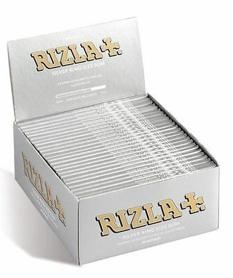 Rizla Silver King Size Slim Cigaret Rolling Papers-5,10,20,50(FULL BOX) BOOKLETS