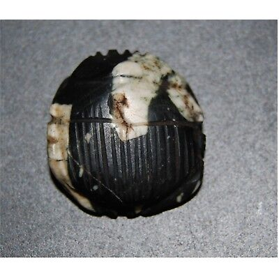 Rare antique Egyptian naturalistic scarab – stone porphyre - Late period 750-332