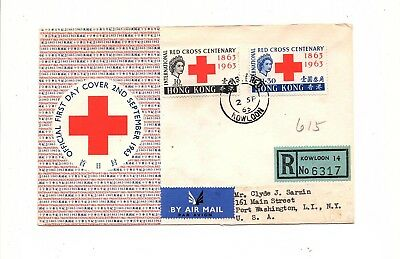 Hong Kong British Colonies China  Asia  Red Cross  Cover Fdc  Lot (Ph 14)
