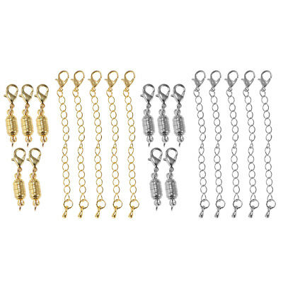 10Pcs 6mm Magnetic Lobster Clasps Hook for Necklace Bracelet Jewelry Making