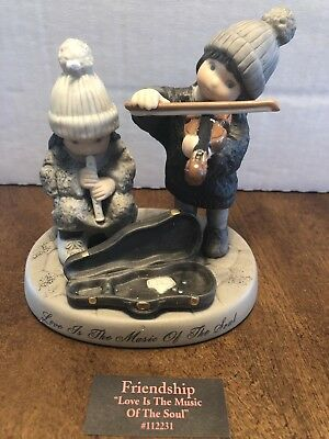 """Kim Anderson, Pretty as a picture 2003, """"Love is the music of the soul"""" figurine"""
