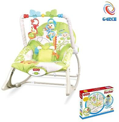 Newborn Baby Toddler No Music Vibrating Bouncer & Rocking Chair With Toy Bar