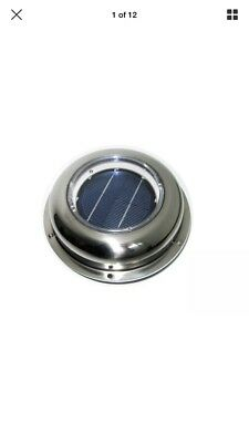 Solar Powered Vent Fan Exhaust Ventilation Stainless Steel Roof Attic RV Boats