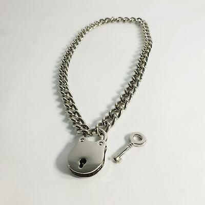 1 Key & Padlock, Necklace Stainless Steel Chain - PS24SN