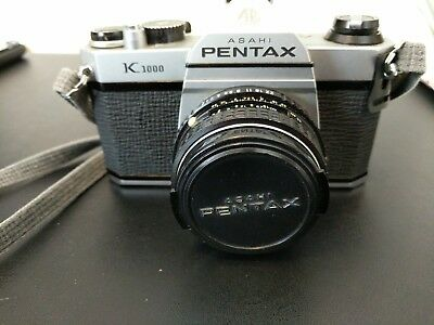 Vintage Pentax Asahi K1000 35mm Film Camera & Lens Pentax - M 1:2 50mm and more