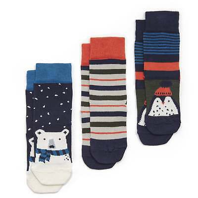 Joules Junior Treat Feet 3 pk Festive Socks - Festive Friends