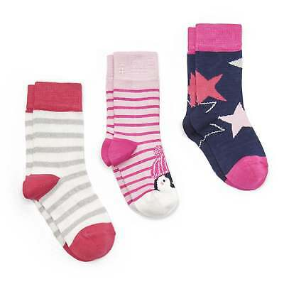 Joules Junior Treat Feet 3 pk Festive Socks - Penguin and Star