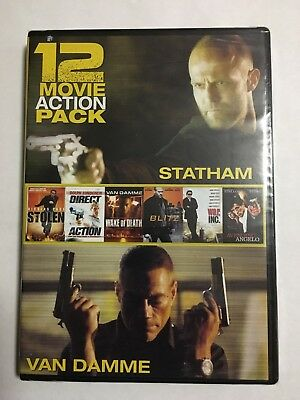 12 Movie Action Pack DVD- new + Fast Shipping