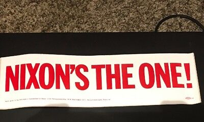 1972 Richard Nixon Campaign The One Bumper Sticker Original