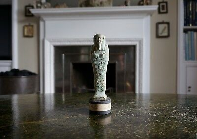 A Fine, Large Ancient Egyptian Faience Shabti Tomb Figure From Memphis, Egypt