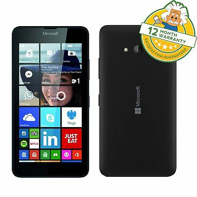 "Microsoft Nokia Lumia 640 LTE in Black 4G 5"" Windows Smartphone on EE"
