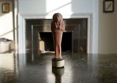 A Superb Large Ancient Egyptian Terracotta Shabti Tomb Figure From Thebes, Egypt