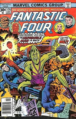 NM Fantastic Four #176 w/ Stan Lee and Jack Kirby as characters! Check the pix!
