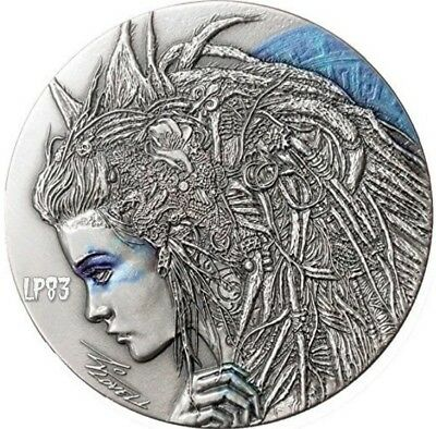 2018 50g Silver Niue $2 CASSANDRA Dark Beauties Coin.