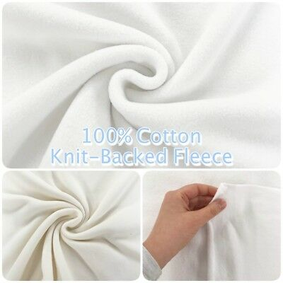 "Luxury Super-Soft 100% COTTON FLEECE Natural with Knitted Back 60""/150cm Wide"