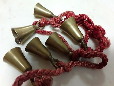 Sarna Bells Brass Set Of 6 with Cord India