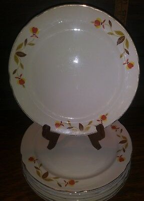"Hall Autumn Leaf Jewel Tea 9"" Plate"
