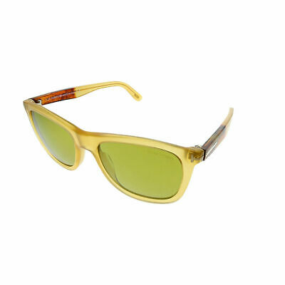 cfb3468c3a Tom Ford Andrew TF 500 41N Yellow Plastic Square Sunglasses Green Lens